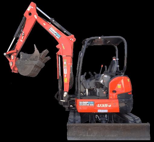 Excavator Hire | Kubota Mini Excavator Rental | Scoop Hire Melbourne